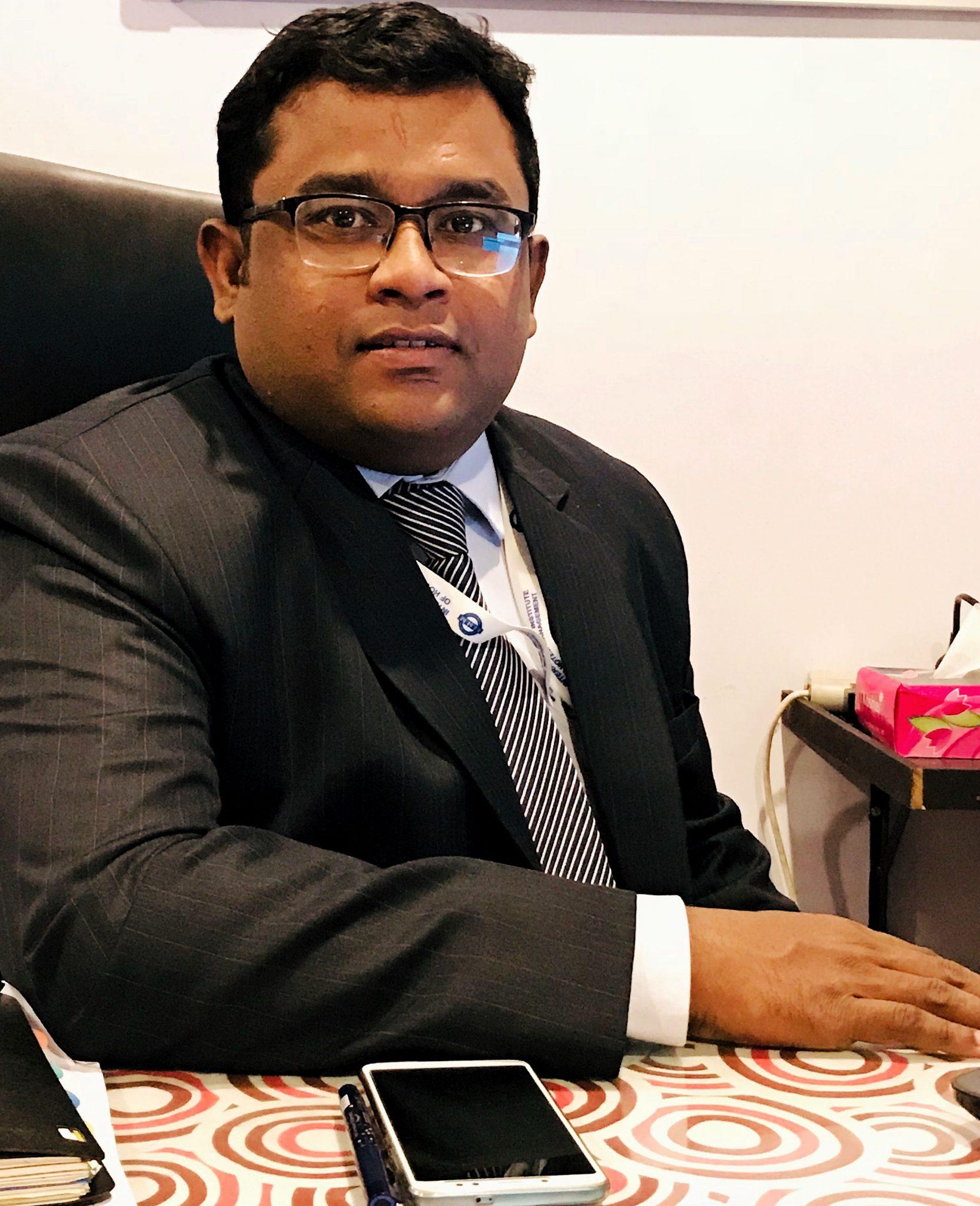 Mr. J EARNEST IMMANUEL,Director-IIHM, Hyderabad